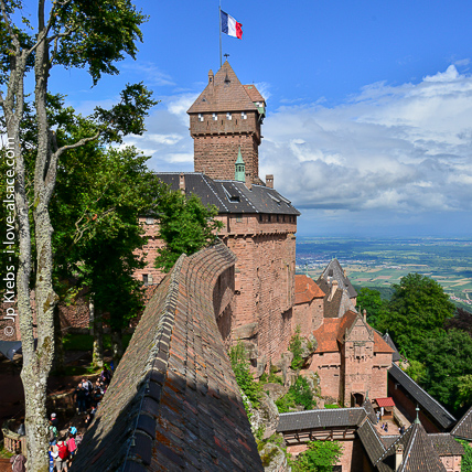 The famous castle Haut Koenigsbourg is the most visited attraction and monument in Alsace and one of the first in France.