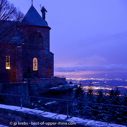 A visit to the mount Saint Odile is a moment of emotion in any season, even in winter.